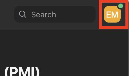 Zoom Profile Button